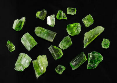 5.9g Lot of CHROME TREMOLITE Gem Grade Apple Green Crystals from Tanzania 26033