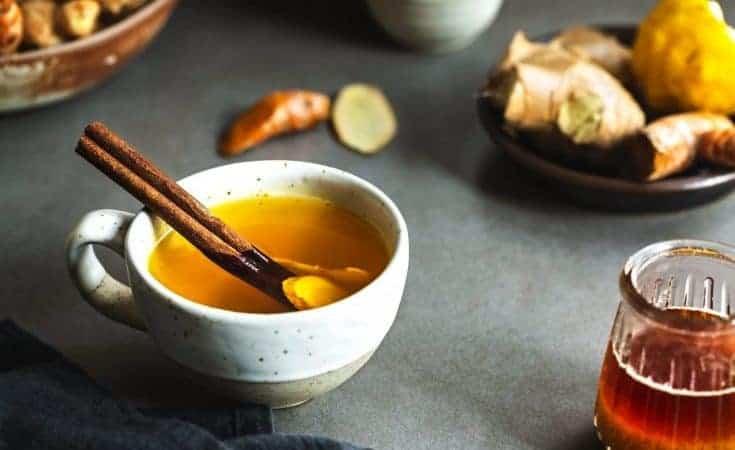 Turmeric With Ginger And Cinnamon Tea